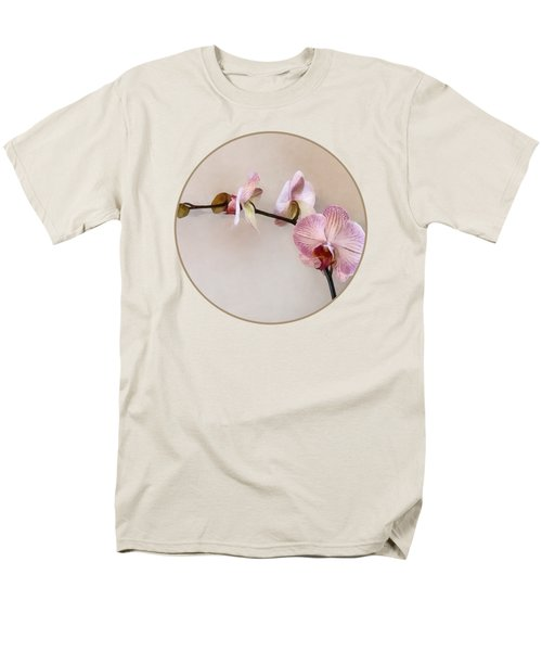 Delicate Pink Phalaenopsis Orchids Men's T-Shirt  (Regular Fit)