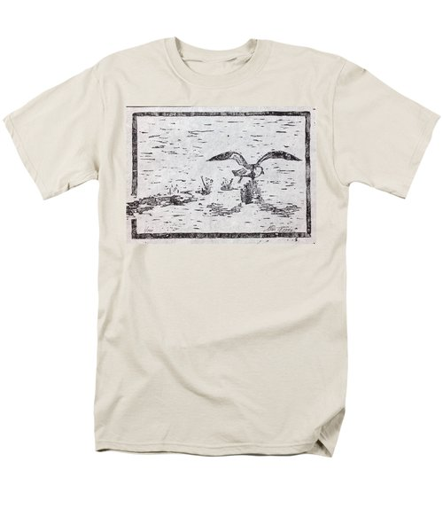 Departure Woodcut  Men's T-Shirt  (Regular Fit) by Stan Tenney