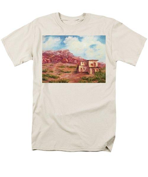 Men's T-Shirt  (Regular Fit) featuring the painting Desert Pueblo by Roseann Gilmore