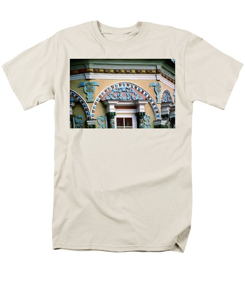Detail Of Trinity Lavra Of St. Sergius Monastery Sergiev Posad Men's T-Shirt  (Regular Fit) by Wernher Krutein
