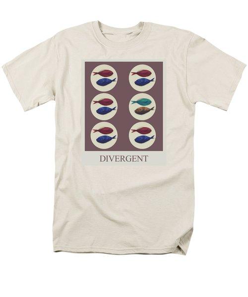 Men's T-Shirt  (Regular Fit) featuring the digital art Divergent by Galen Valle