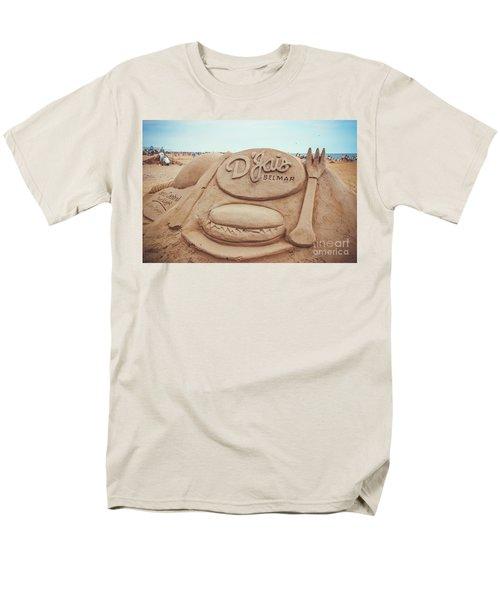 Men's T-Shirt  (Regular Fit) featuring the photograph D'jais Belmar Sandcastle by Colleen Kammerer