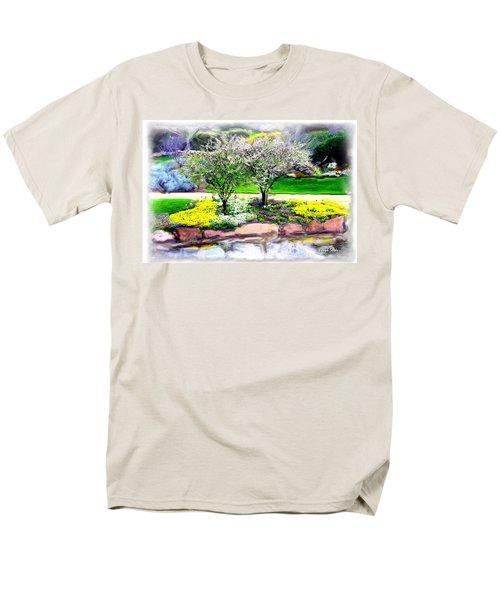Men's T-Shirt  (Regular Fit) featuring the photograph Do-00066 Lake Walk by Digital Oil