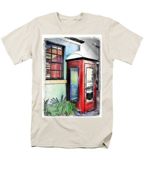 Do-00091 Telephone Booth In Morpeth Men's T-Shirt  (Regular Fit) by Digital Oil