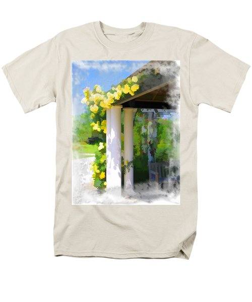 Men's T-Shirt  (Regular Fit) featuring the photograph Do-00137 Yellow Roses by Digital Oil