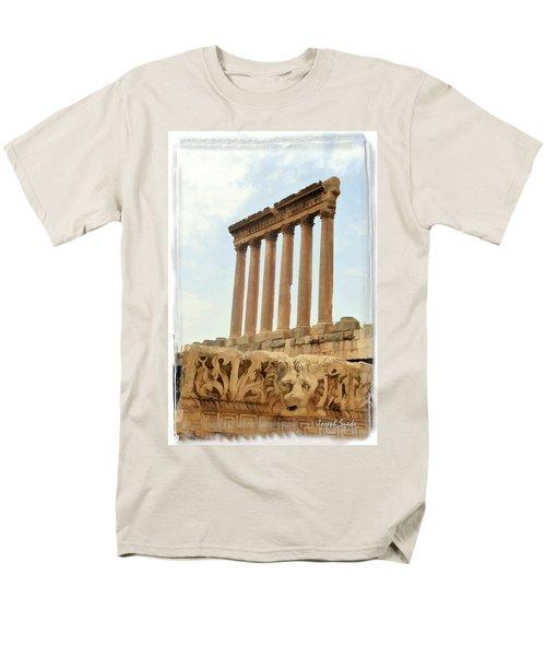 Do-00314 The 6 Corinthian Columns In Baalbeck Men's T-Shirt  (Regular Fit) by Digital Oil