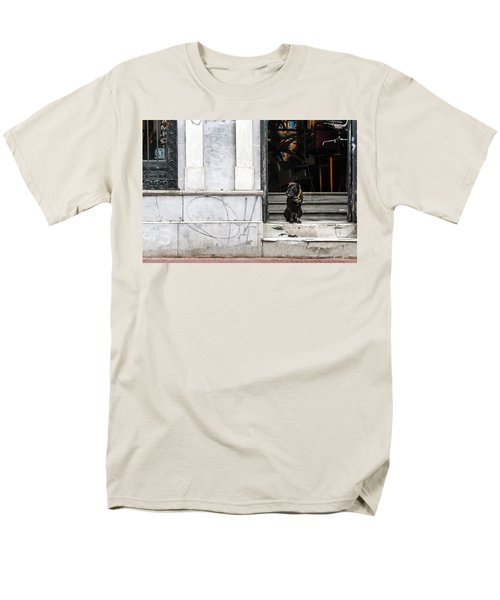 Dog From The Block Men's T-Shirt  (Regular Fit) by Silvia Bruno