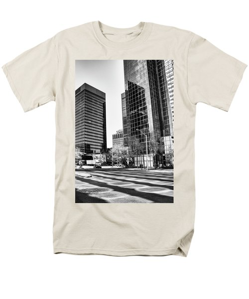 Men's T-Shirt  (Regular Fit) featuring the photograph Downtown Bubble Reflections by Darcy Michaelchuk