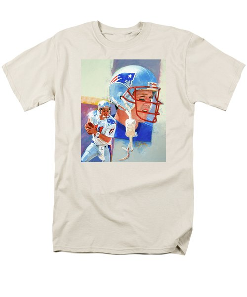 Men's T-Shirt  (Regular Fit) featuring the painting Drew Bledsoe by Cliff Spohn