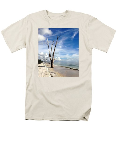 Men's T-Shirt  (Regular Fit) featuring the photograph Driftwood At Lovers Key State Park by Janet King