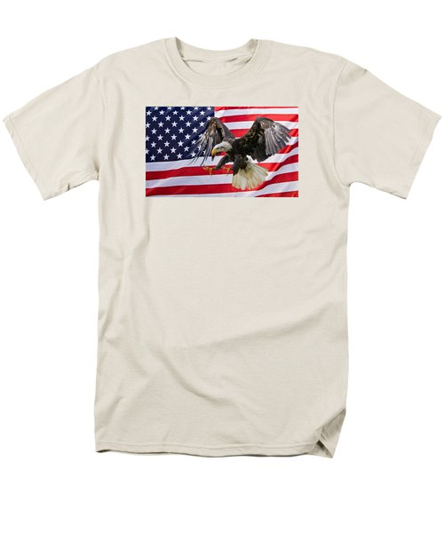 Eagle And Flag Men's T-Shirt  (Regular Fit) by Scott Carruthers