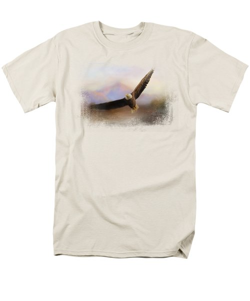 Eagle At The Mountain Men's T-Shirt  (Regular Fit) by Jai Johnson