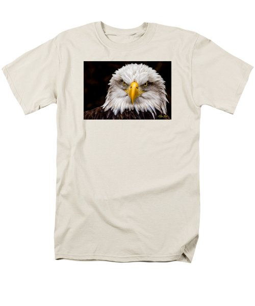 Defiant And Resolute - Bald Eagle Men's T-Shirt  (Regular Fit) by Rikk Flohr