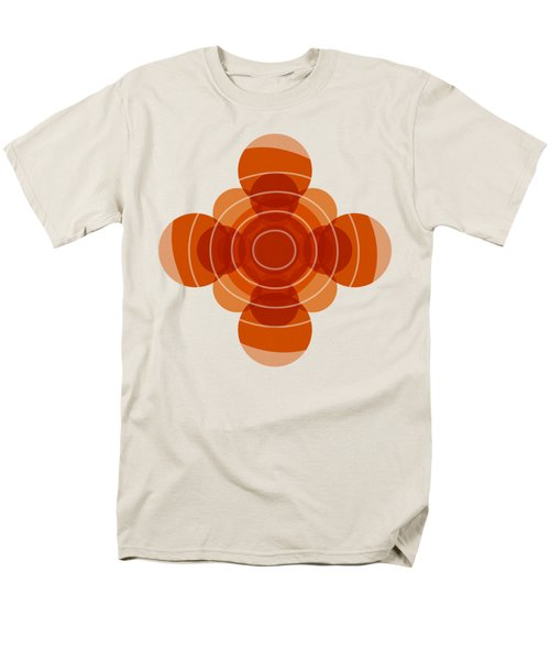 Earthy Red Scandinavian Floral Design Men's T-Shirt  (Regular Fit)