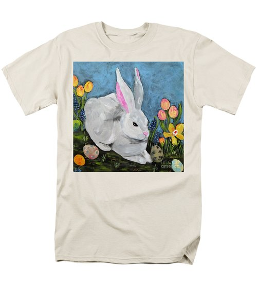 Men's T-Shirt  (Regular Fit) featuring the painting Easter Bunny  by Reina Resto