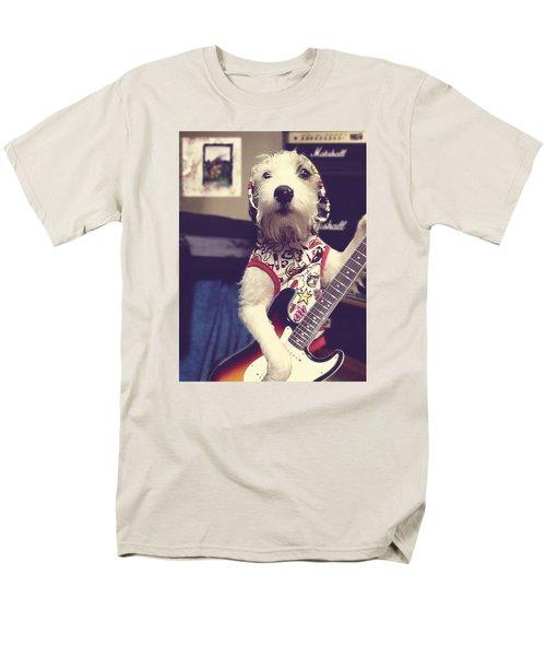 Eddie Plays Guitar Men's T-Shirt  (Regular Fit) by Richard Reeve