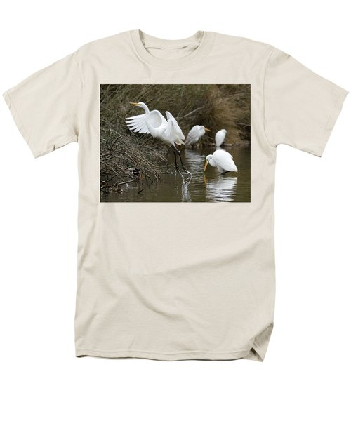 Men's T-Shirt  (Regular Fit) featuring the photograph Egret Exit by George Randy Bass