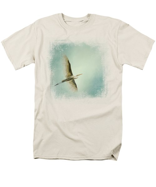 Egret Overhead Men's T-Shirt  (Regular Fit) by Jai Johnson