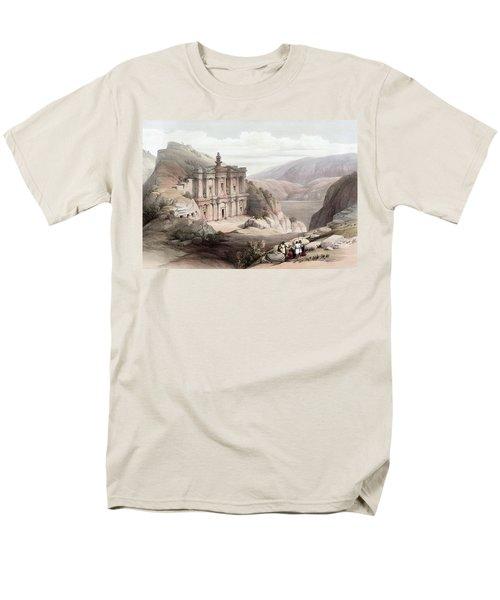 El Deir Petra 1839 Men's T-Shirt  (Regular Fit) by Munir Alawi