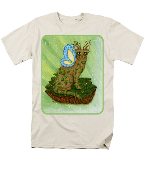 Men's T-Shirt  (Regular Fit) featuring the painting Elemental Earth Fairy Cat by Carrie Hawks