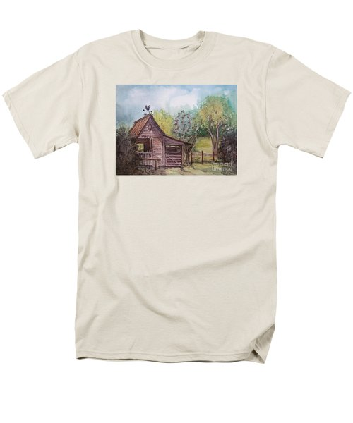 Men's T-Shirt  (Regular Fit) featuring the painting Elma's Horse Barn by Gretchen Allen