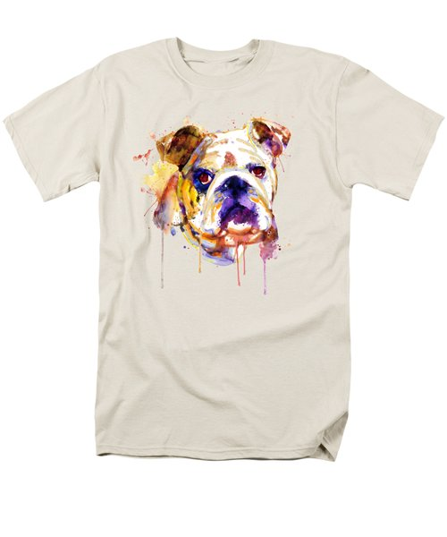 English Bulldog Head Men's T-Shirt  (Regular Fit) by Marian Voicu