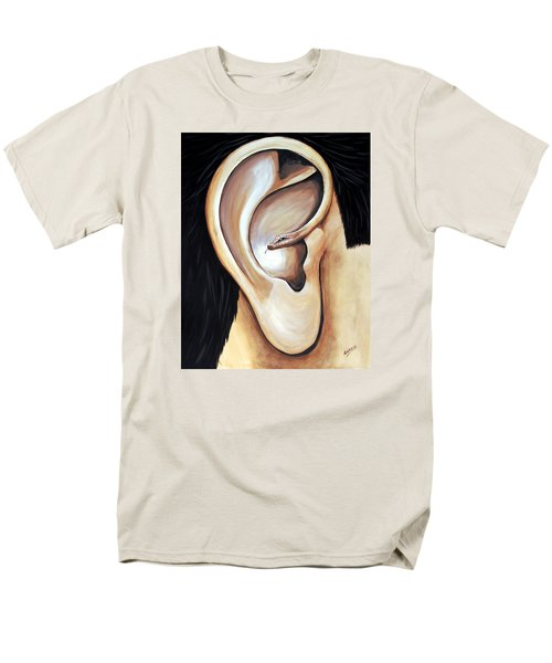 Men's T-Shirt  (Regular Fit) featuring the painting Lengua Detractora by Edwin Alverio