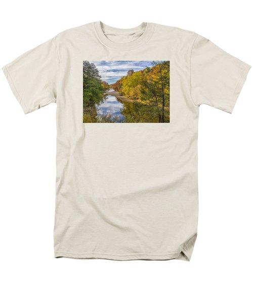 Fall At Turkey Run State Park Men's T-Shirt  (Regular Fit) by Alan Toepfer