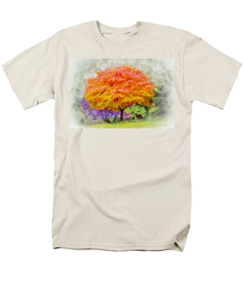 Men's T-Shirt  (Regular Fit) featuring the painting Fall Tree by Greg Collins