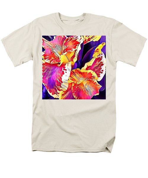 Fanciful Canna  Men's T-Shirt  (Regular Fit) by Heidi Smith