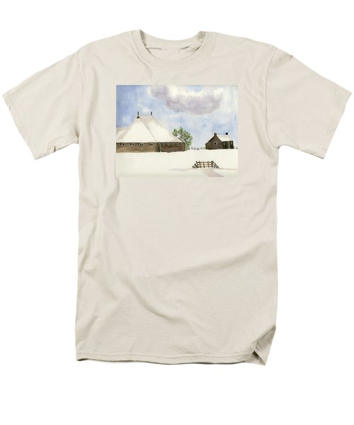 Farmhouse In The Snow Men's T-Shirt  (Regular Fit) by Annemeet Hasidi- van der Leij