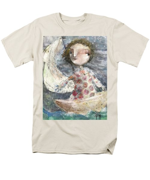 Men's T-Shirt  (Regular Fit) featuring the mixed media Fearless by Eleatta Diver