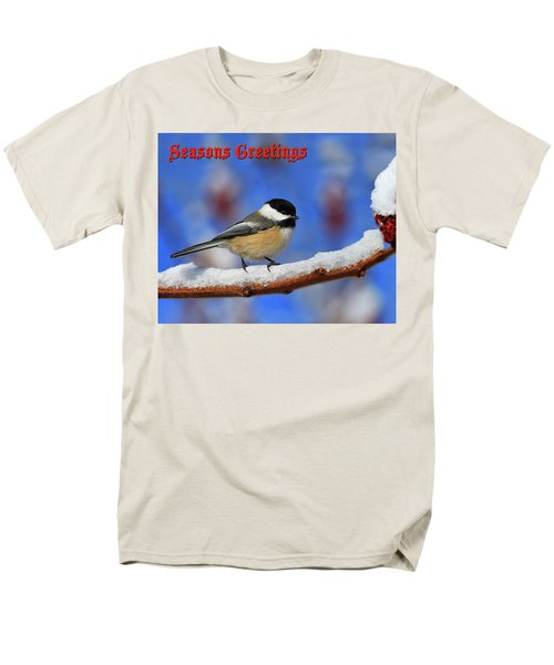 Men's T-Shirt  (Regular Fit) featuring the photograph Festive Chickadee by Tony Beck