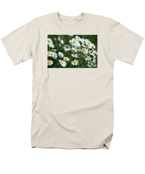 Men's T-Shirt  (Regular Fit) featuring the photograph Field Of Daisy's  by Alana Ranney