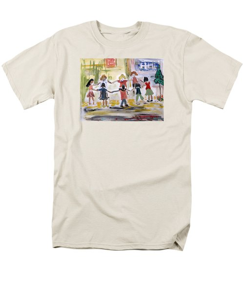 Men's T-Shirt  (Regular Fit) featuring the painting Finding Time To Play by Mary Carol Williams