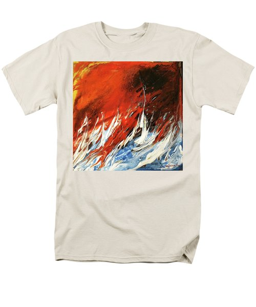 Fire And Lava Men's T-Shirt  (Regular Fit) by Kathleen Pio
