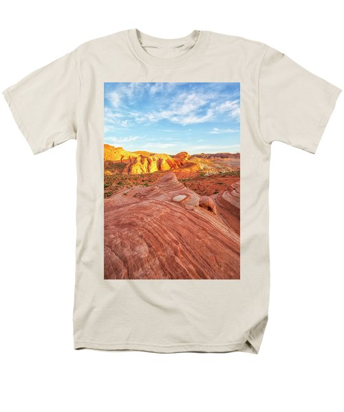 Fire Wave In Vertical Men's T-Shirt  (Regular Fit) by Joseph S Giacalone