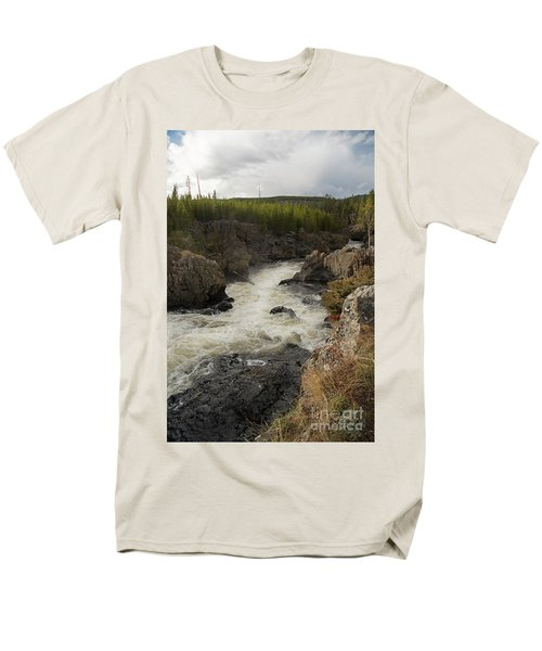Firehole River Cascade Men's T-Shirt  (Regular Fit) by Cindy Murphy - NightVisions