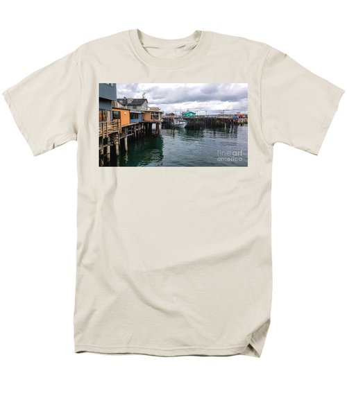 Men's T-Shirt  (Regular Fit) featuring the photograph Fisherman's Wharf Monterey II by Gina Savage