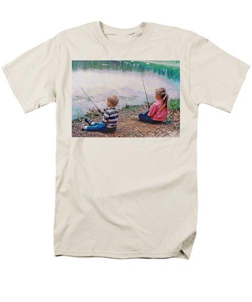 Fishing At Watkins Mill Men's T-Shirt  (Regular Fit) by Steve Karol
