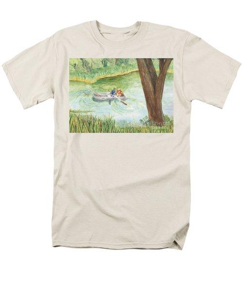 Men's T-Shirt  (Regular Fit) featuring the painting Fishing Lake Tanko by Vicki  Housel