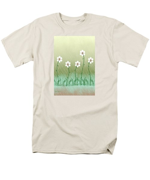 Five Days Of Daisies Men's T-Shirt  (Regular Fit) by Rosalie Scanlon
