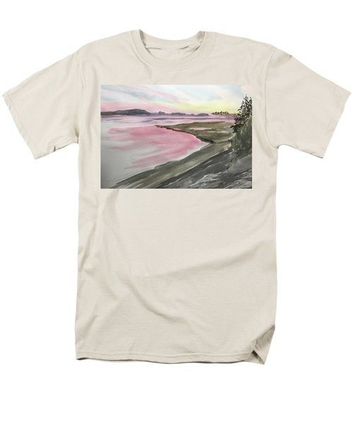 Five Islands - Watercolor Sketch  Men's T-Shirt  (Regular Fit) by Joel Deutsch