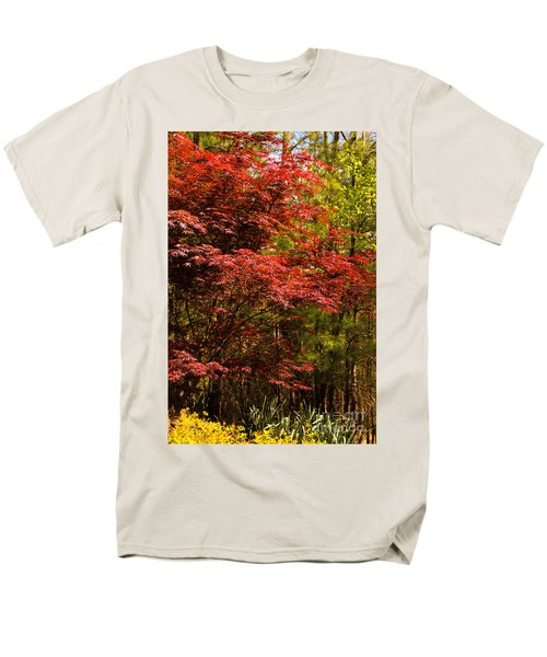 Flame In The Backyard Men's T-Shirt  (Regular Fit) by Marilyn Carlyle Greiner