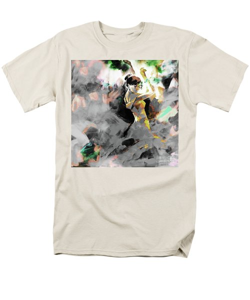 Men's T-Shirt  (Regular Fit) featuring the painting Flamenco Dance Art 7u7 by Gull G