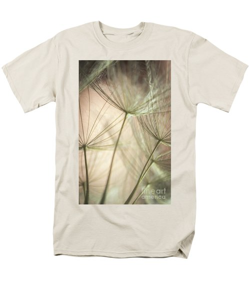Flamingo Dandelions Men's T-Shirt  (Regular Fit) by Iris Greenwell