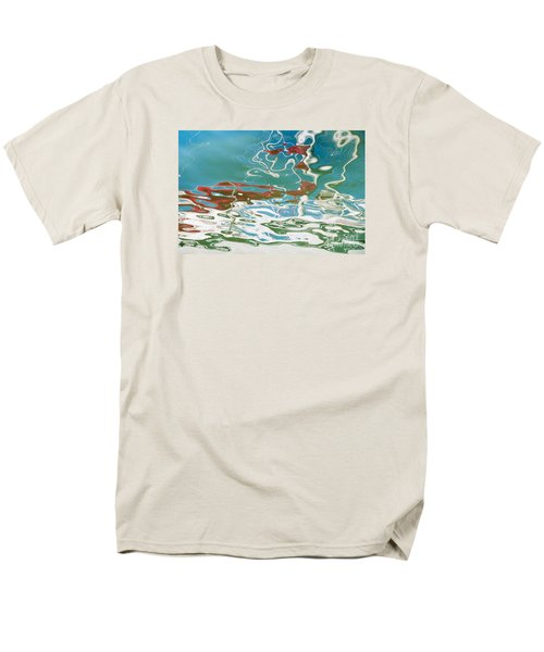 Floating On Blue 35 Men's T-Shirt  (Regular Fit) by Wendy Wilton
