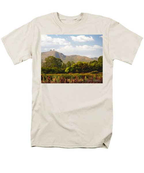 Men's T-Shirt  (Regular Fit) featuring the photograph Flowers And Two Trees by John A Rodriguez