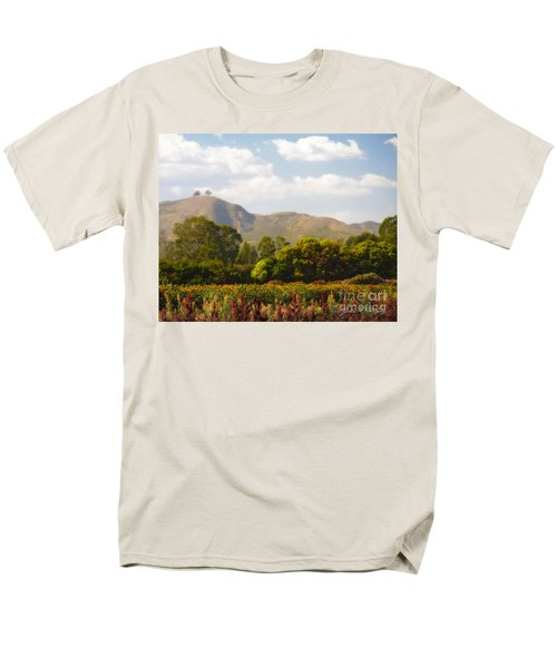 Flowers And Two Trees Men's T-Shirt  (Regular Fit)