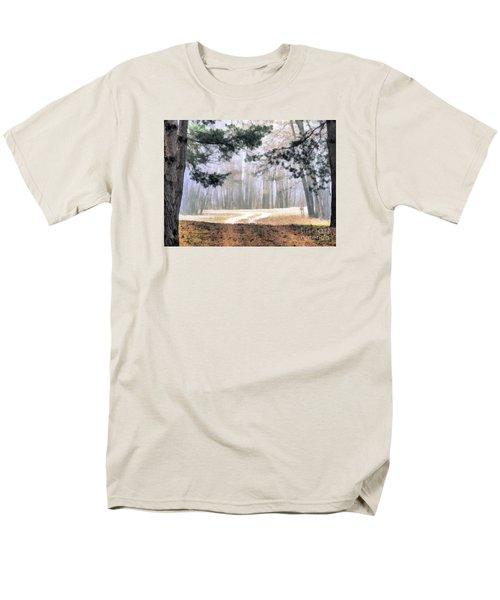 Foggy Autumn Landscape Men's T-Shirt  (Regular Fit) by Odon Czintos